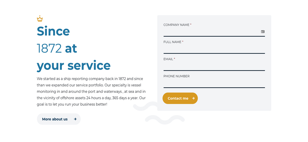 afbeeldign van website onderdeel website dirkzwager, bevat formulier en introductietekst