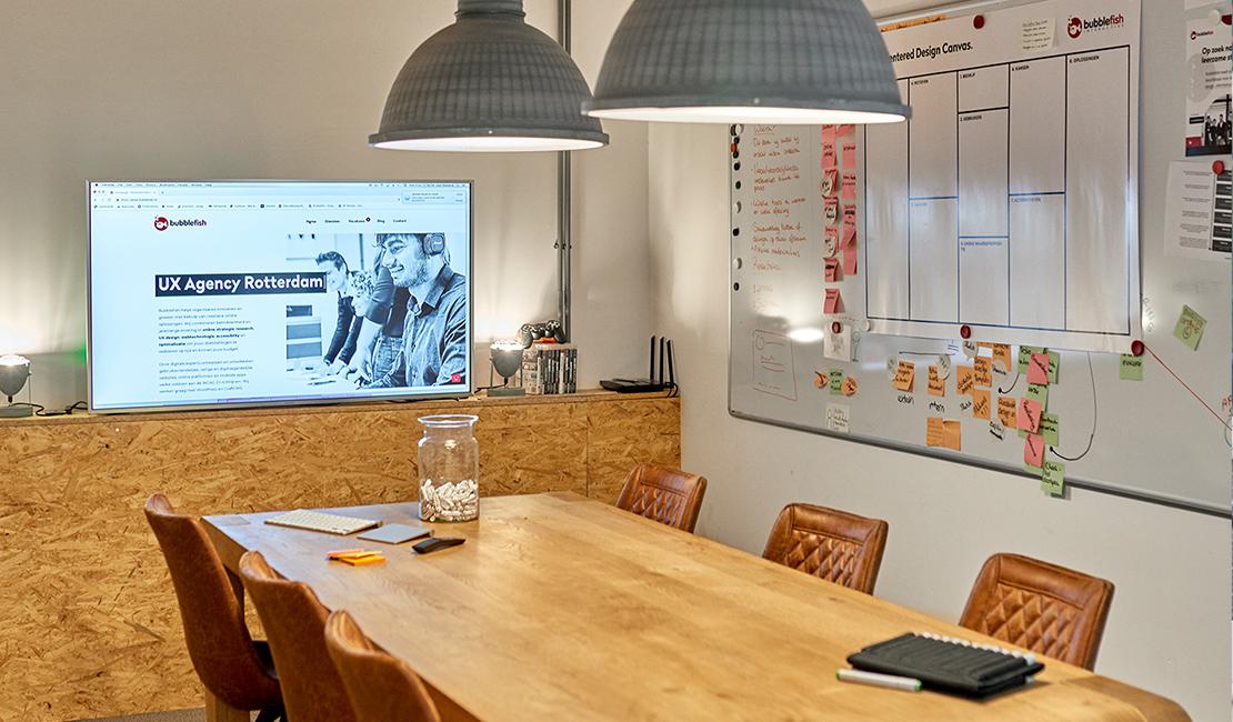 Afbeelding van de meeting ruimte bij Bubblefish