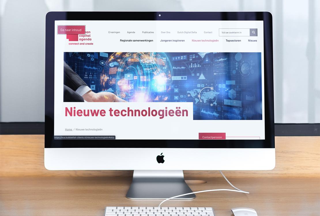 imac mockup van de website met een zichbare skiplink