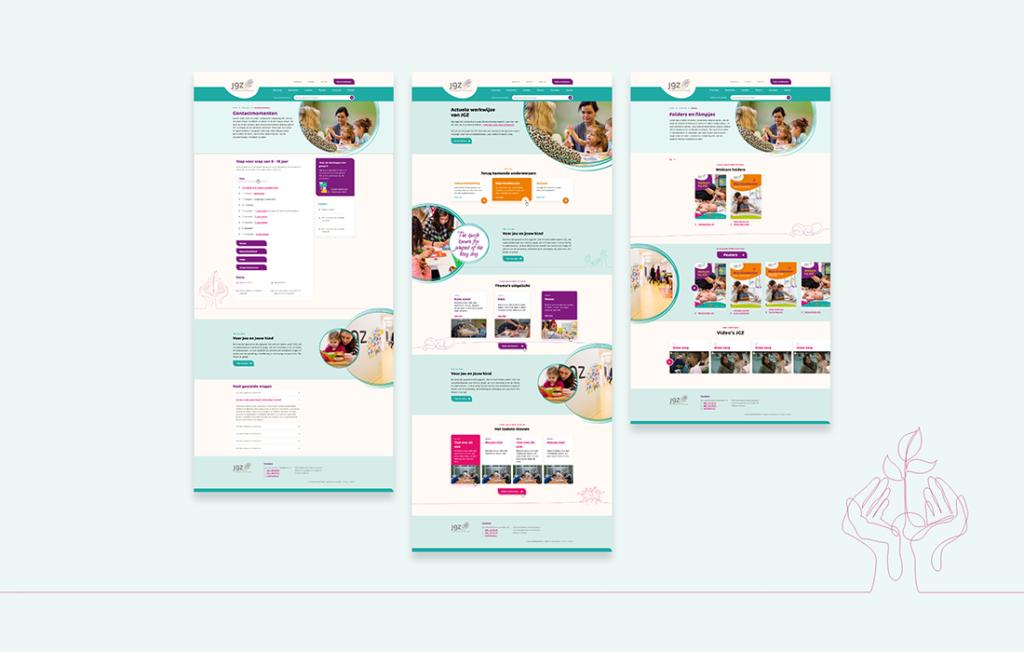 Visual van de nieuwe website voor JGZ